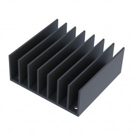 image of extruded aluminum heat sink HS-2.28-2.40-0.95 isometric view
