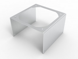 iso view picture of fan bracket for mounting 92mm fans to our 4 inch bonded fin heatsink