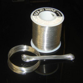image of solder wire roll and coiled solder. Solder alloy of Antimony Tin Sn95/Sb5 235-240C melt region