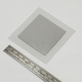 image of Pure Indium foil thermal interface material TIM 50 x 50 x 0.05 mm part number TF-IF5050