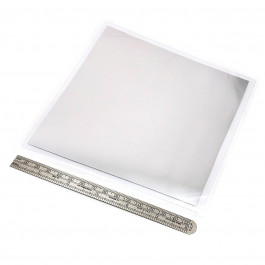 image of Pure Indium foil sheet thermal interface material TIM 150 x 150 x 0.05 mm part number TF-IF150150
