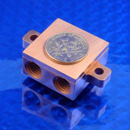 Water Block 1.0 x 1.0 x 0.49 Copper