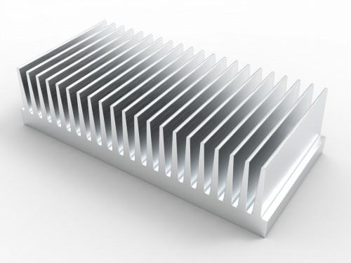 5/'/' X 2 1//2/'/' Aluminum Heat Sink